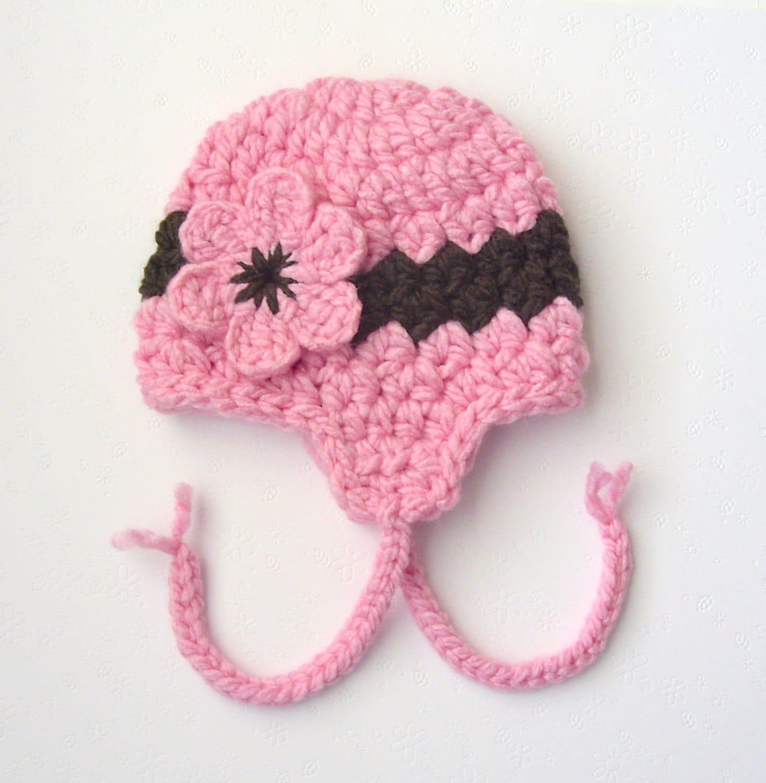 Amigurumi Earflap Hat : Earflap Hat Crochet Earflap Hat Baby Girl by ...