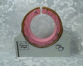 Doughnut - Ye Olde Shoppe Wooden bank -Donut with sprinkles or Pink frosting -Personalized free