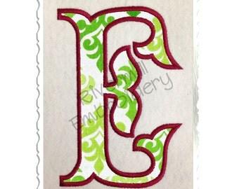 Fish Tail Applique Machine Embroidery Font Monogram Alphabet - 4 Sizes