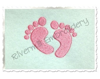Baby Footprints Machine Embroidery Design - 4 Sizes