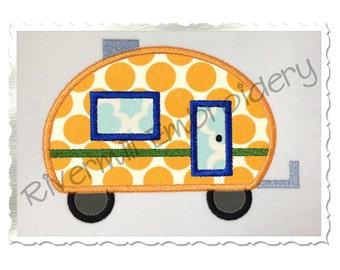 Applique Camper Machine Embroidery Design - 4 Sizes