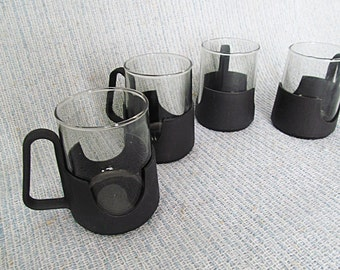 Glas Snap by Corning Cups Mugs Vintage Glassware Hot and Cold Beverage Set of 4 Glass Snap