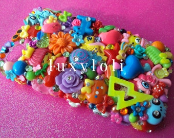 Custom Kawaii Brights Style Decoden Phone Case