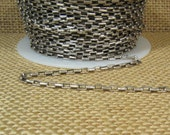 2mm Rectangle Link Rolo Chain - Antique Silver - 4mm x 2mm Links - CH128 - Choose Your Length