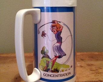 Vintage Thermo Serv ladies golf plastic cup