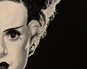 "BRIDE of FRANKENSTEIN - Art Print Reproduction 10"" x 12"" - signed by Artist"