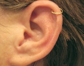 "No Piercing Cartilage Ear Cuff Handmade ""Twisted Gold"" 1 helix cuff Brass"