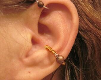 "SALE 2 Ear Cuffs 1 ""Twisted Tribe"" Ear Cuff and 1 ""Tribal Ball"" Helix Cuff Handmade"