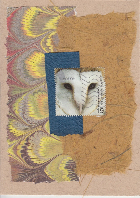 Owls: Collage Card