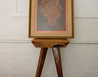 "mid century MODERN art WALL ""Bouquet 2"" hanging picture DANISH"