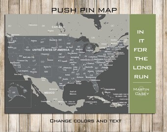Marathon Map, Mounted on Foam, USA 24X36 Inches, Marathon route, Travel Map, Gift for Parents/Wife, Family Travels