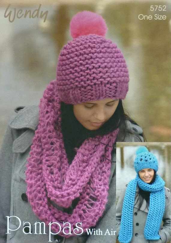 Owl Jumper Knitting Pattern : Womens Knitting Pattern W5752 Ladies Easy Knit Scarf Hats and