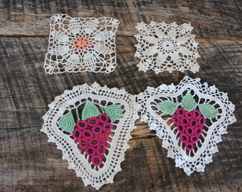 Vintage Hand Crocheted Coaster Doilies