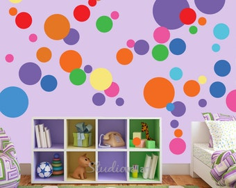 Circles Wall Decals - Reusable Circle Decals - SK314SWA