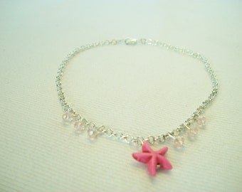 Starfish Anklet, Nautical Anklet, Beach Jewelry