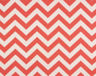 Coral White Chevron Zig Zag Curtains - Rod Pocket - 63 72 84 90 96 108 or 120 Long by 24 or 50 Wide