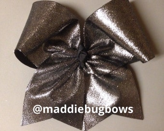 Black & Gray Cheer Bow