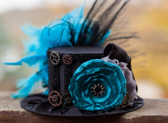 Steampunk Mini Top Hat - Alice in Wonderland - Party Top Hat - Steampunk Hat
