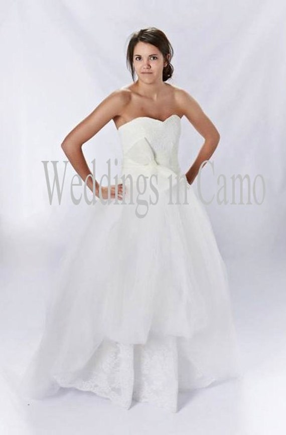 LACE Wedding Dress Strapless wedding dress