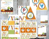 Tractor  Birthday Party Collection printable Tractor invitation by Luv Bug Design