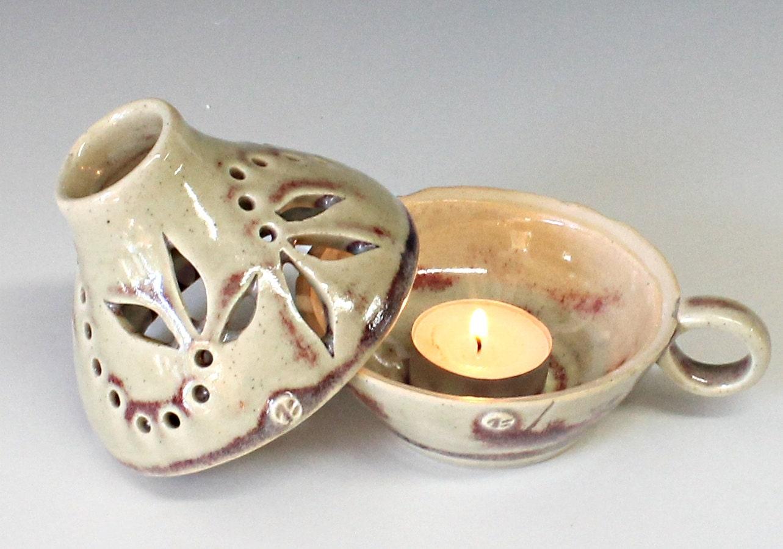 Handmade Ceramic Lamp Pottery Candle Holder Ceramic Candle