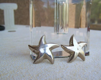 Bayanihan star earrings sterling silver signed modernist starfish