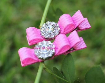 Baby Hair Bows Nr1046, Barbie Pink, Hair Clips, Baby Toddler, Hair Accessories, Hairbows, Barrettes, Infant Newborn, Baby Gifts, Rhinestone