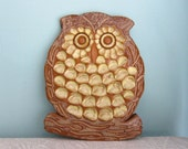 Owl Trivet -  Ceramic Owl Trivet