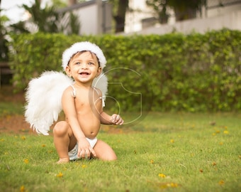 Choose Color Baby Toddler Angel Wings Beautiful Costume Professional Photo Prop Wedding Flower Girl Baby Shower FREE halo Valentine's Day