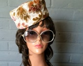 Mad Men Pillbox Hat Vintage Rockabilly 1960s 60s Tapestry Chenille Carpetbag Fabric Midcentury Couture Accessory Small One Size Pill Box Hat