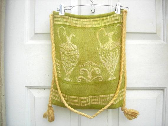 Vintage Woven Bag. greek bag. boho bag. boho purse. vintage purse. vintage purses. vintage bags. shopping bag.