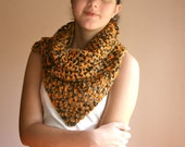 Chunky Long Scarf in Fall Colors - Crochet Scarf - Cowl - Neckwarmer - Wrap - Spring Fall Winter Fashion - Women Teens Accessorie
