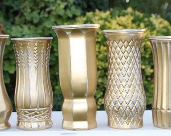 Gold Vase Set Of Five Made to Order