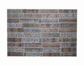 Patchwork rug Blue 117