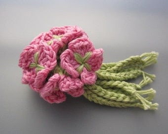 Crocheted Flower Posy - Rose Pink