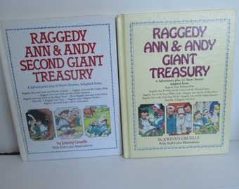 Raggedy Ann and Andy Giant Treasury Books Hand Signed Set  by Worth and Kim Gruelle Autographed