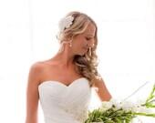 Crystal rhinestone vintage inspired bridal headpiece comb