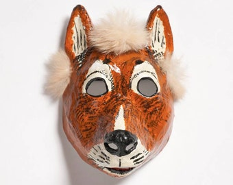 Paper mache goat mask