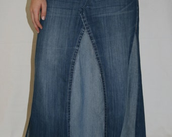 Women's Long Jean Skirt, Made To Order