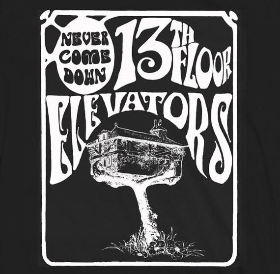 13th floor elevators never come down shirt rocky by for 13th floor elevators shirt