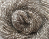 "Handspun Yarn ""Ice Princess 3"" Two Ply Two Tone Uncarded Kid Mohair Locks/Lincoln Wool"