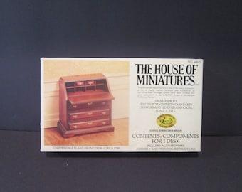 Chippendale Slant Front Desk Circa 1750 Doll Furniture Kit