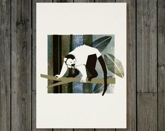 Printable poster - Titi monkey - Wall Art Home Decor / Printable Art / Art Print / Digital Art / INSTANT DOWNLOAD