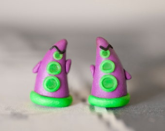 Day of the Tentacle Purple Tentacle Earrings