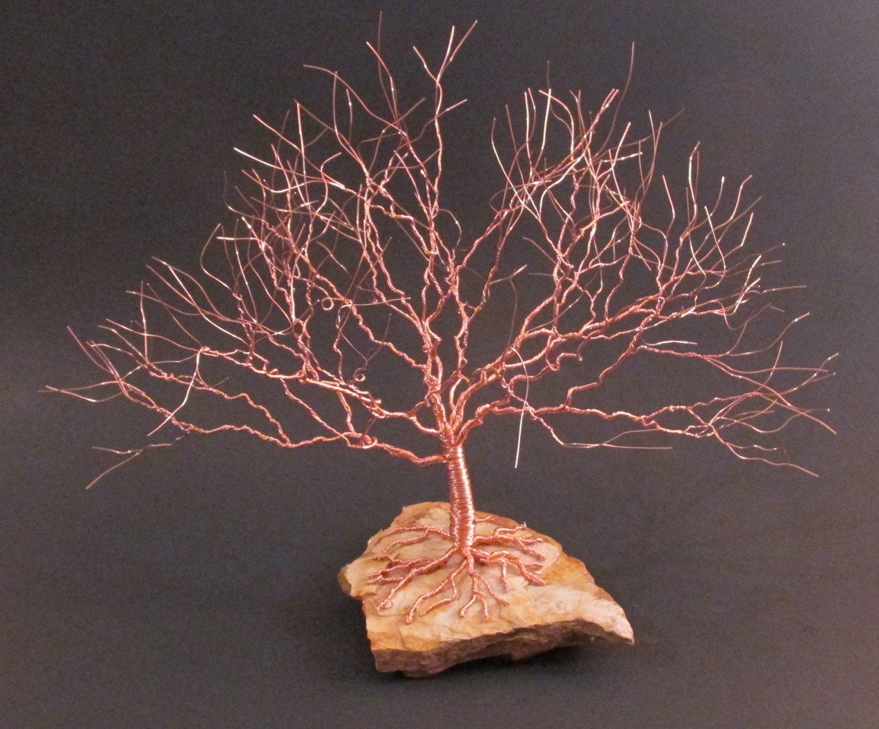 Copper Wire Art : Copper wire tree of life sculpture unique gifts idea by