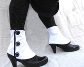 SALE Low spats waterproof with buttons victorian steampunk Gaiters bootcover
