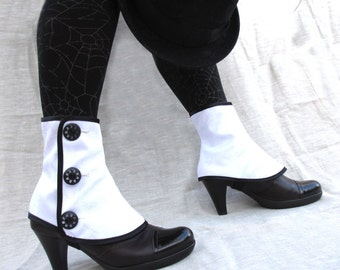 SALE Low spats waterproof with buttons victorian steampunk spat bootcover
