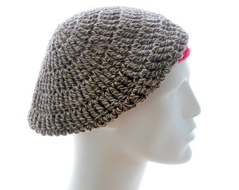Minimalist Sock Monkey Hat, Crochet Cotton Hat for Men, Extra Small to Large Size