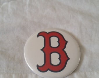 "Boston Red Sox Logo White Baseball Fenway Park Green Monster Pinback Button or Magnet 2.25"""