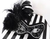 Masquerade Ball Mask ~ Black and Silver Mask